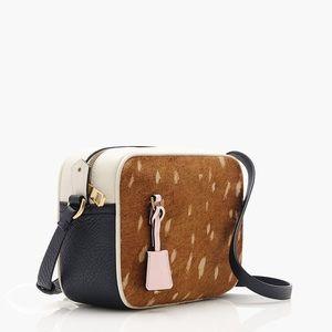 J Crew Signet Leather Crossbody Bag